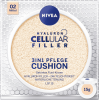 NIVEA Cushion Hyaluron CELLular Filler 3in1 Pflege, Mittel, 15 g Нивея Тонирующий Флюид, оттенок 02 Mittel
