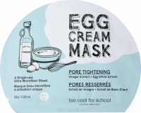 too cool for school EGG Cream  Pore Tightening TuchMaske Маска для лица, 1 шт.